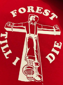 FOREST TILL I DIE  T-SHIRT (Red)